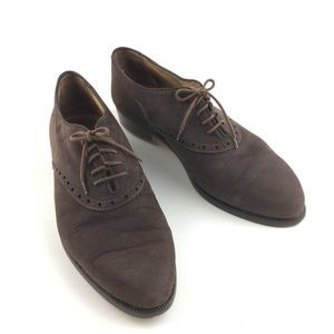 Fratelli Brown Suede Oxfords Size 44
